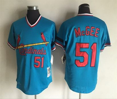 the best attitude 688af ae583 St. Louis Cardinals Mens Jerseys 51 Willie McGee Throwback ...