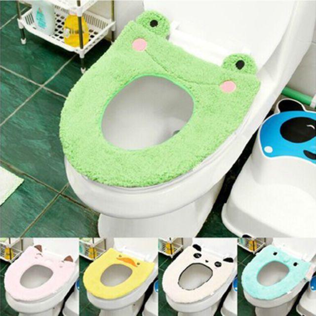 Bathroom Warmer Toilet Seat Cloth Soft Closestool Washable Lid Top