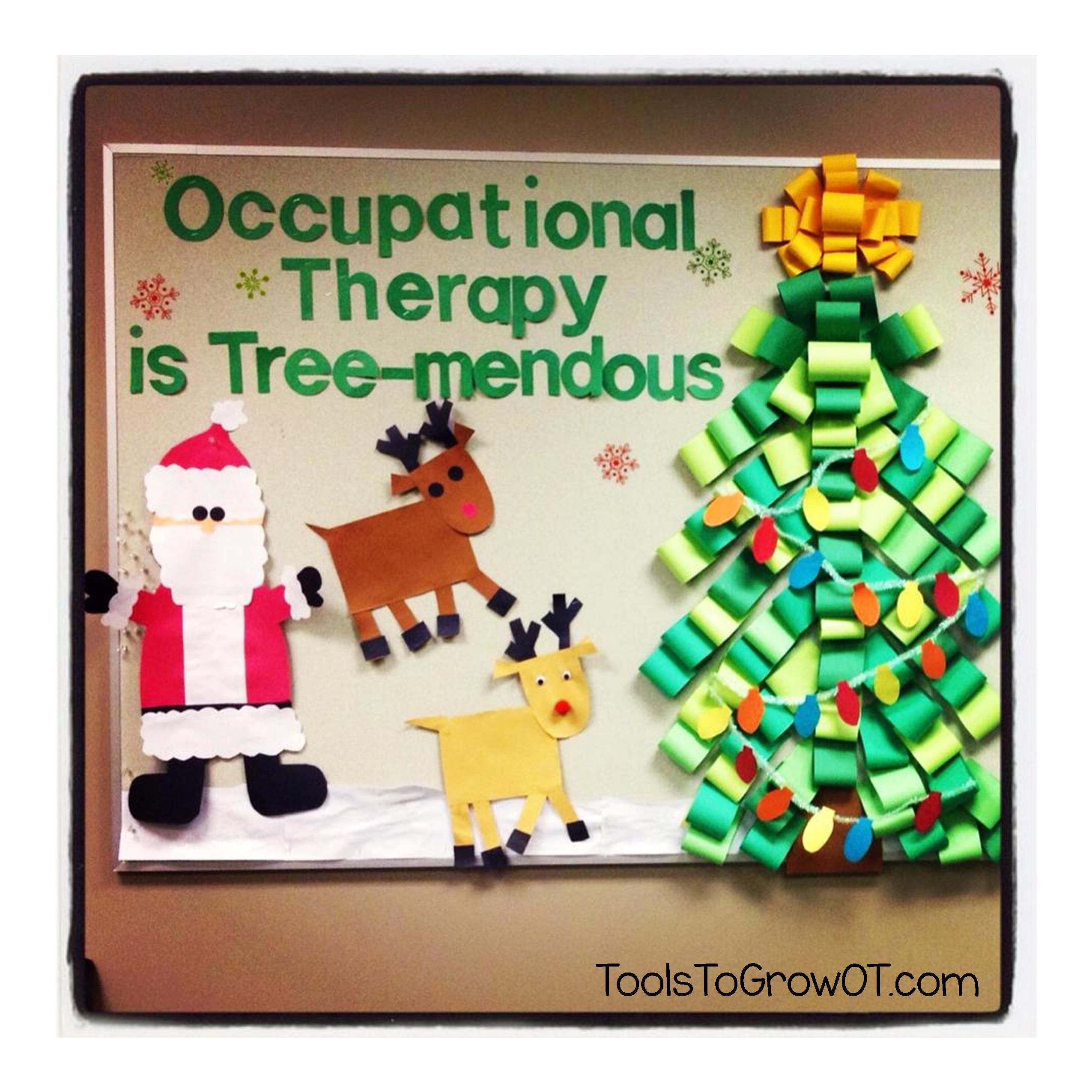 Christmas Occupational Therapy Bulletin Board