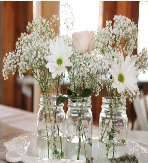 Mason Jar Ideas For Your Wedding | Mason jar centerpieces, Jar ...