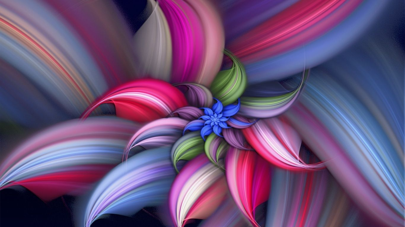 Beautifulflowers Abstract Beautiful Flower Wallpaper 1366x768