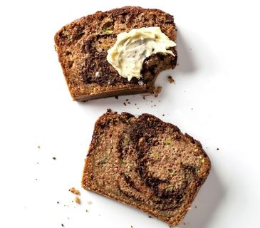 Marbled Chocolate Zucchini Bread going to make a healthier version