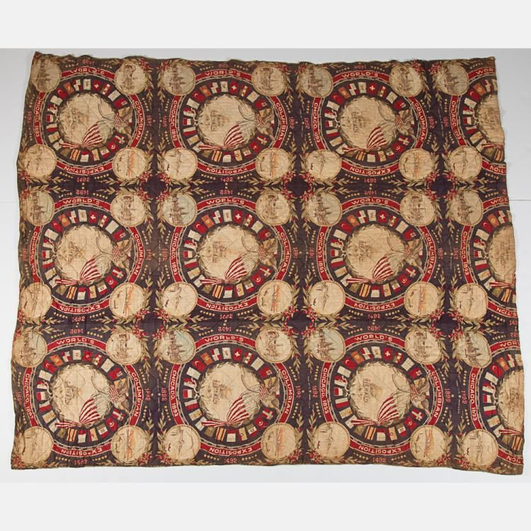 An American Cotton Quilt From The World S Fair Columbian Exposition Chicago 1893 Eagle Quilt World S Fair Cotton Quilts