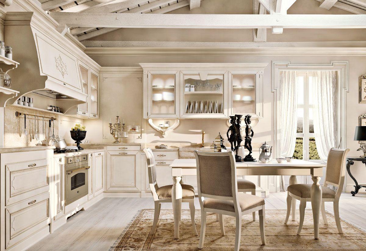 Cucina Soggiorno Country.Arcari Arredamenti Cucina Capri Stile Country E Classico