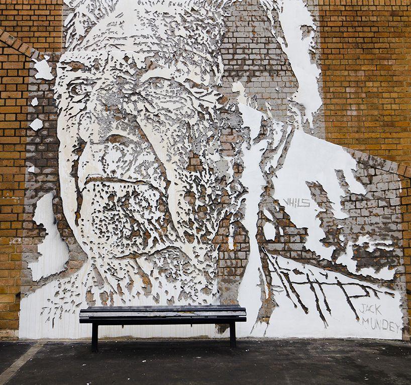 jack mundeym, sydney, australia by portuguese artist alexandre farto AKA vhils
