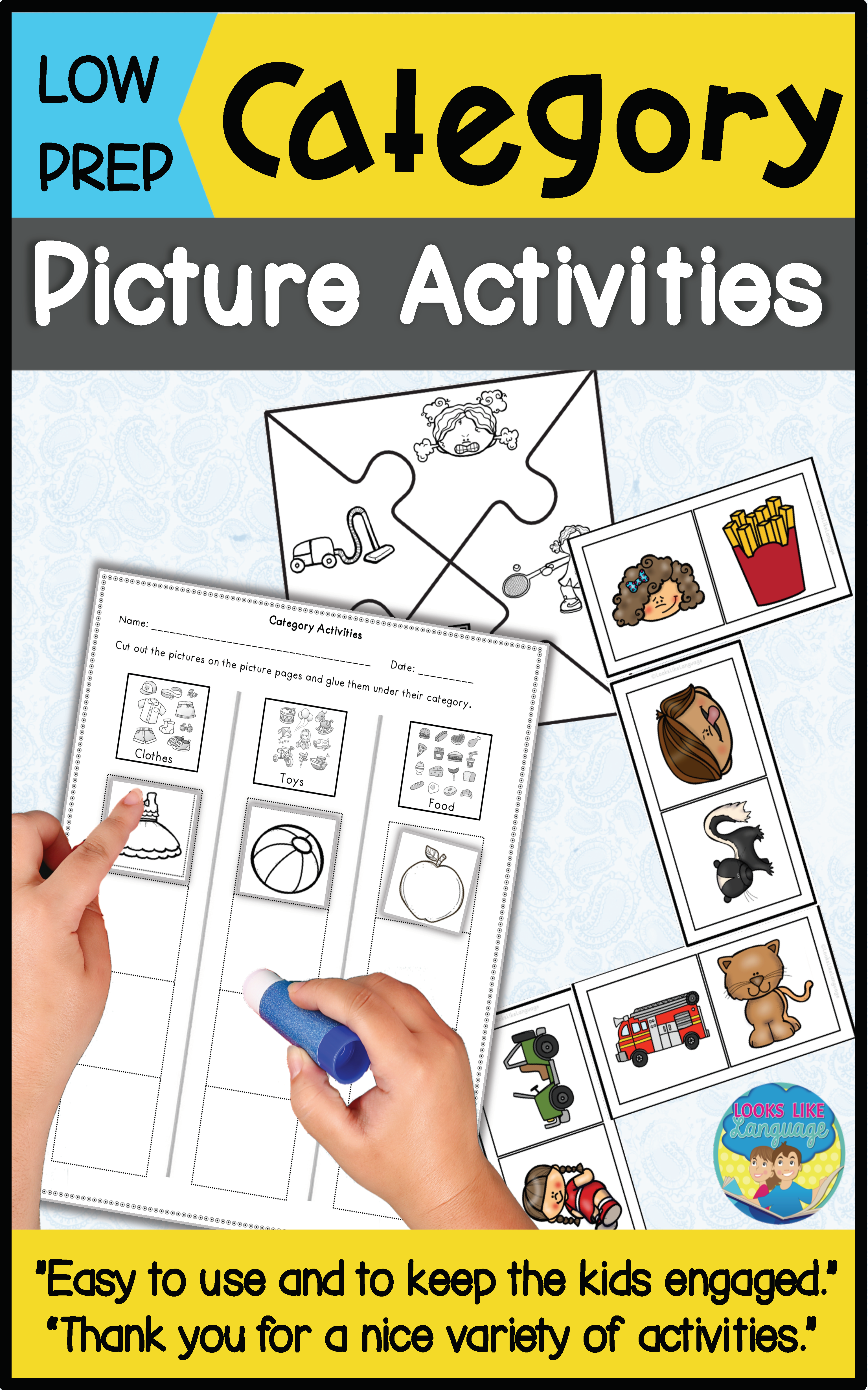 Category Sorting Activities