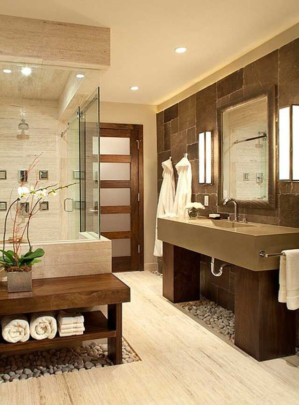 Merveilleux Warm Neutral Tones Work Together To Create A Clean Color Palette In This  Bathroom. Spa