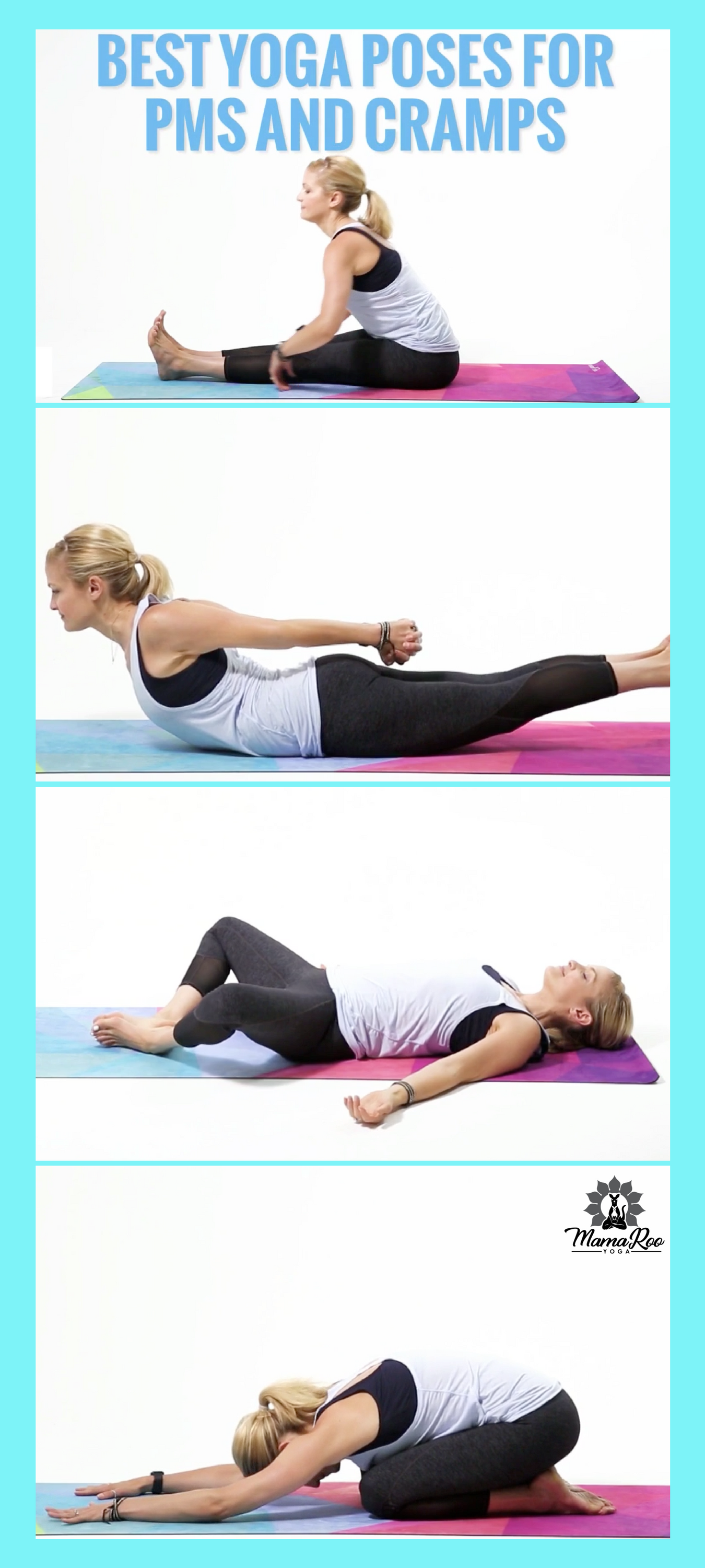 Best Yoga Poses For Pms And Cramps Natural Relief From Menstrual Cramps And Symptoms Click On The Remedies For Menstrual Cramps Cramp Remedies Cramps Relief