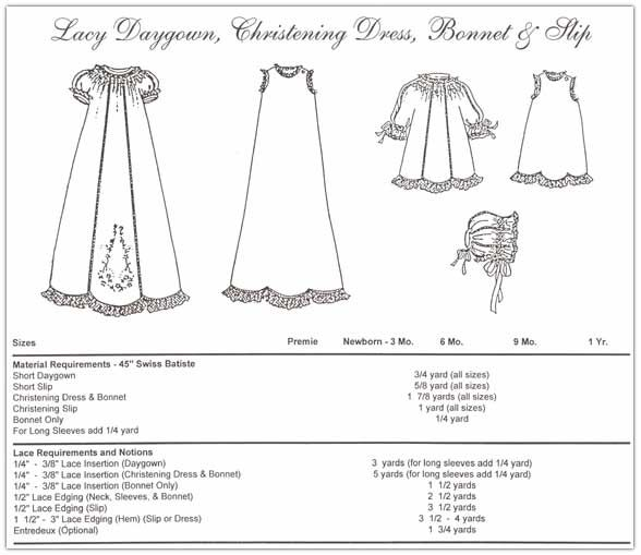 Christening Gowns Patterns Free Free Christening Gown Sewing ...