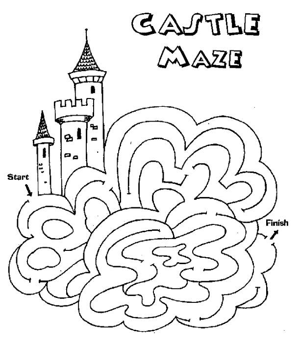 Castle Maze Activity For Rainbow Magic Fern The Green Fairy By