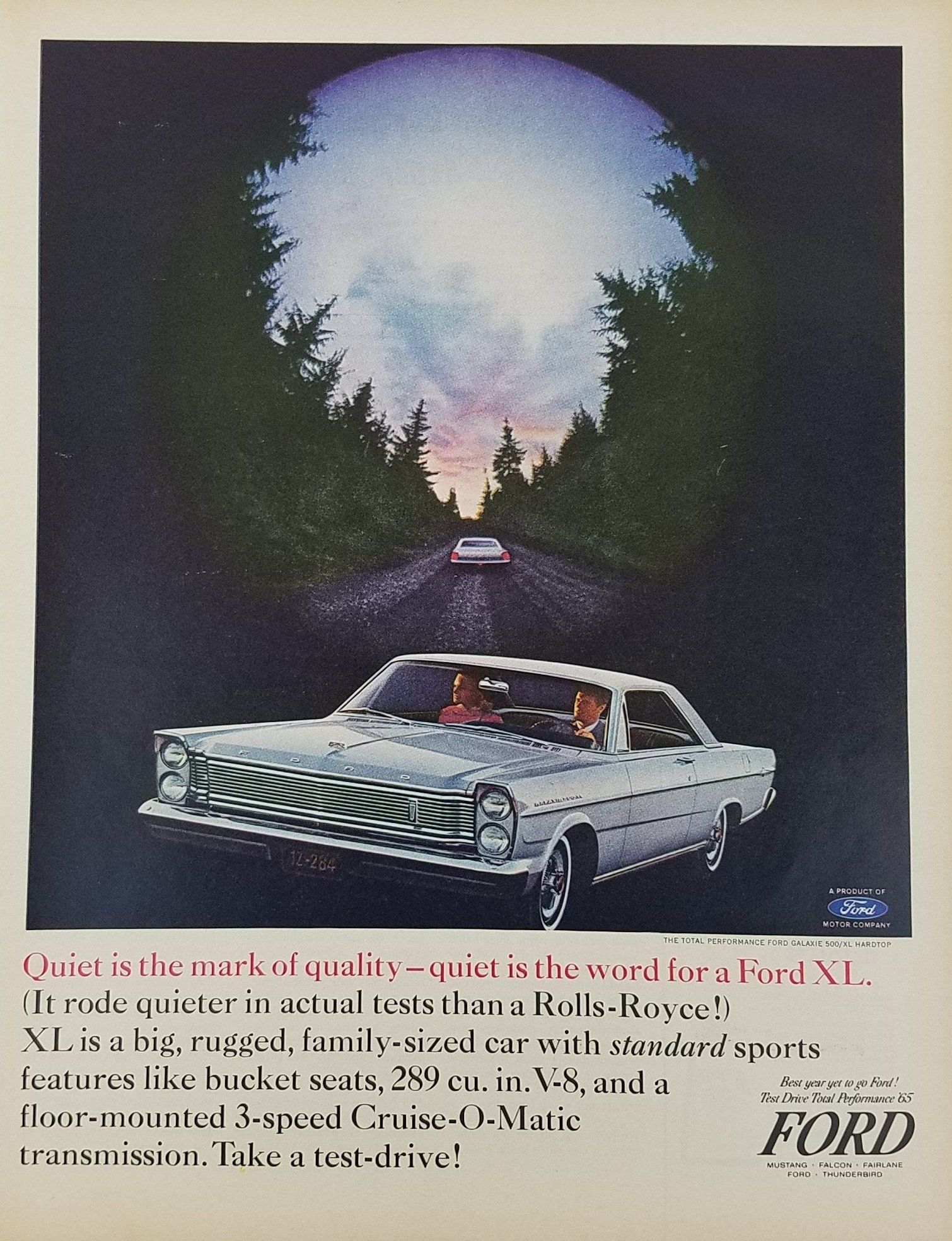 1965 Ford Galaxie 500 Xl Hardtop Vintage Ad Coches Clasicos