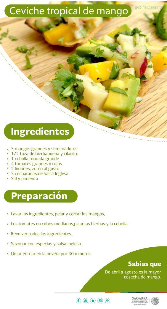 Ceviche Tropical De Mango Sagarpa Sagarpamx Comida Vegana