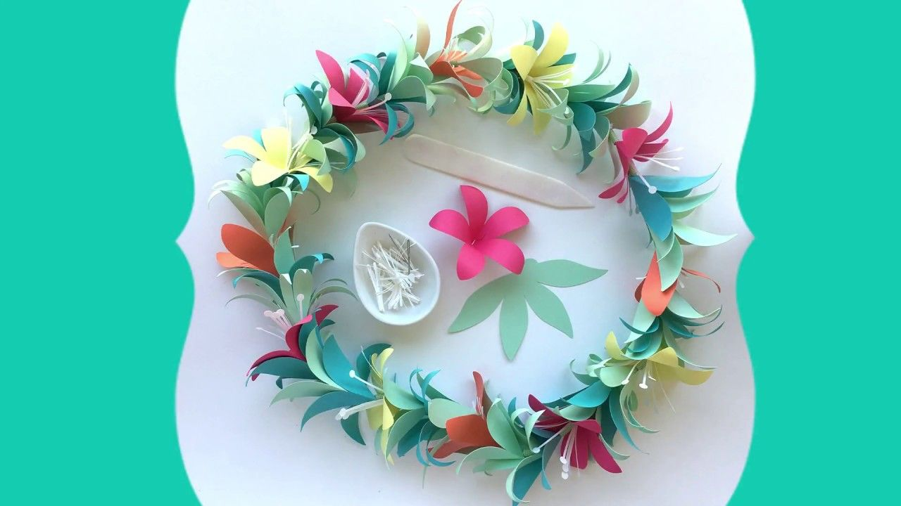 Crafting A Paper Flower Lei Flower Tutorials Pinterest Flower