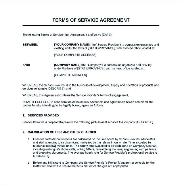 Service Contract Template And Important Terms To Write  Service