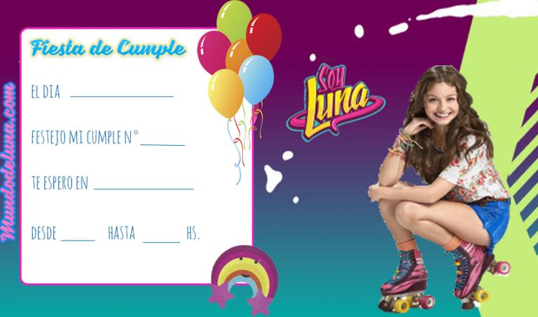 Invitaciones De Cumpleaños De Soy Luna Soy Luna Fans