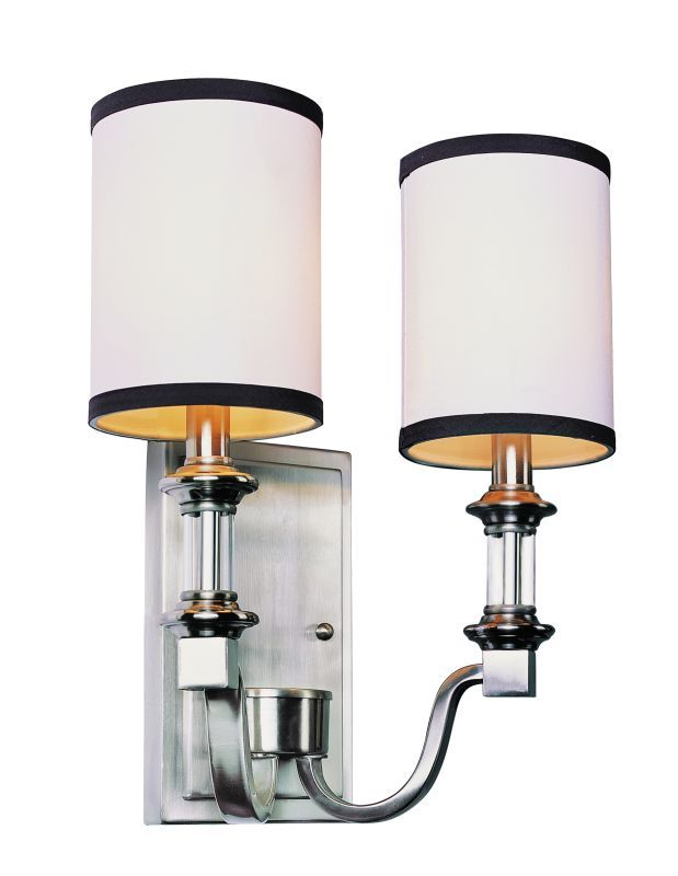 Trans Globe Lighting 7972 Two Light Wall Sconce from the Modern Meets Traditiona Brushed Nickel Indoor Lighting Wall Sconces Up Lighting