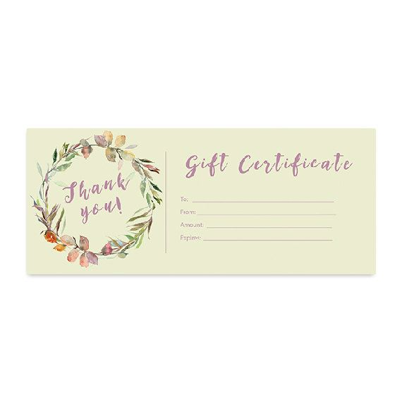 fall floral gift certificate download flowers premade gift
