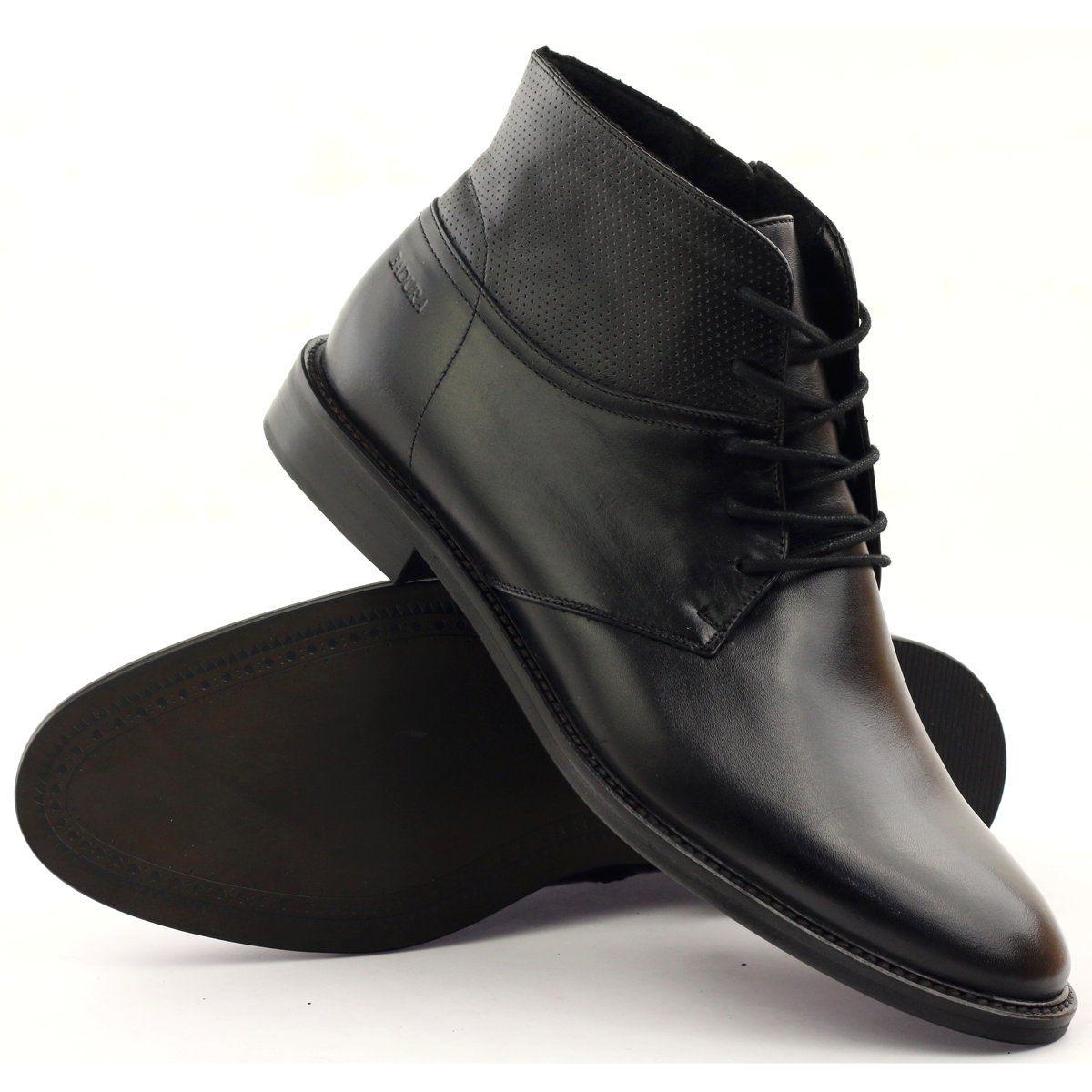 Botki Trzewiki Zimowe Badura 5258 Czarne Miedziane Boots Men Boots Half Boots