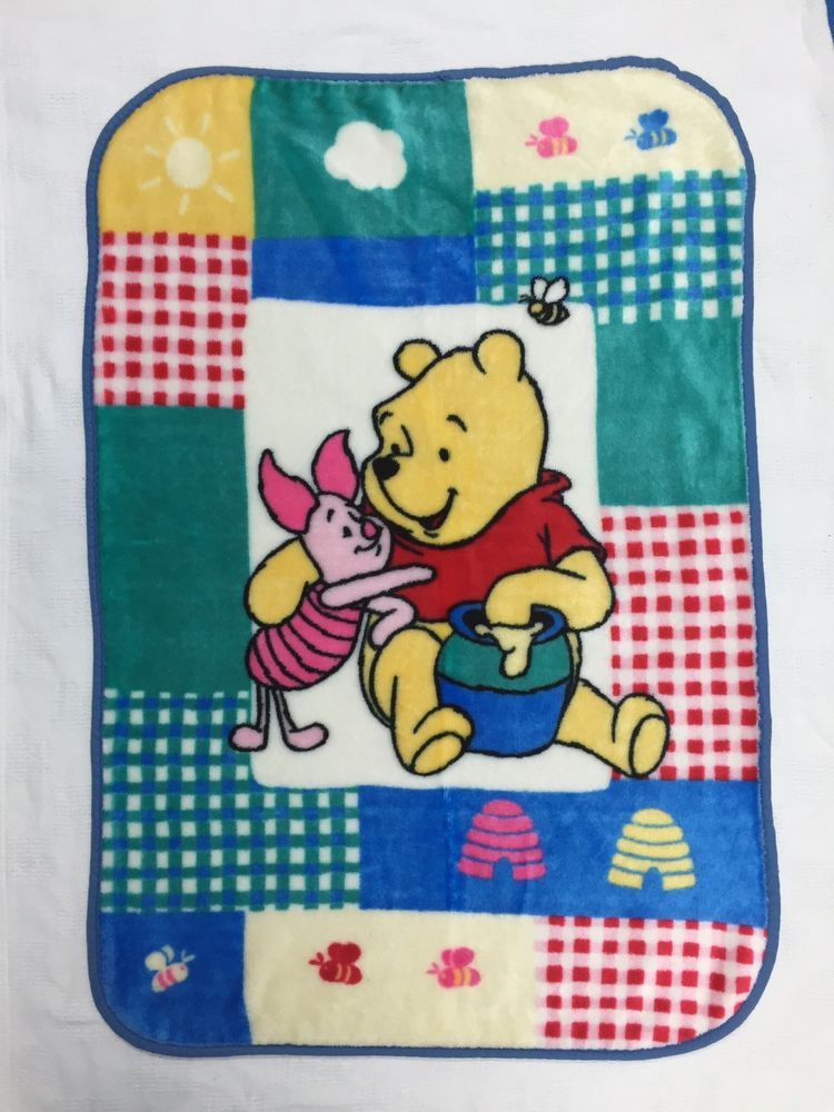 Details About Winnie The Pooh Fleece Baby Blanket Kidsline