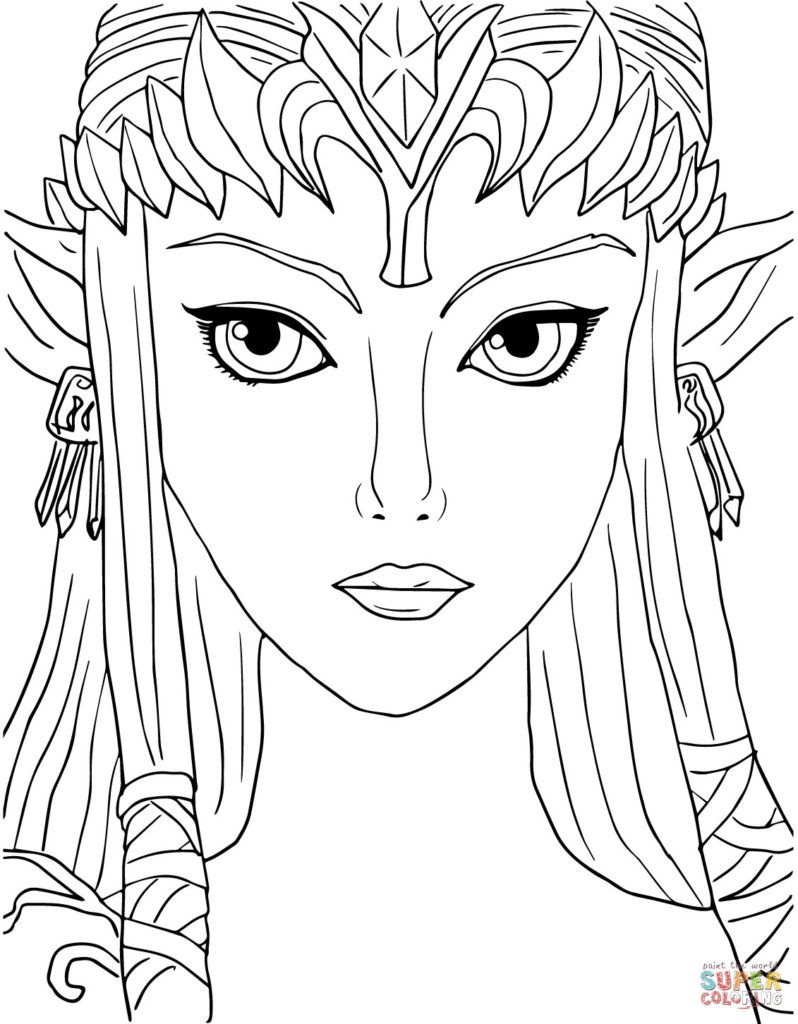 Elf Princess Coloring Pages Coloring