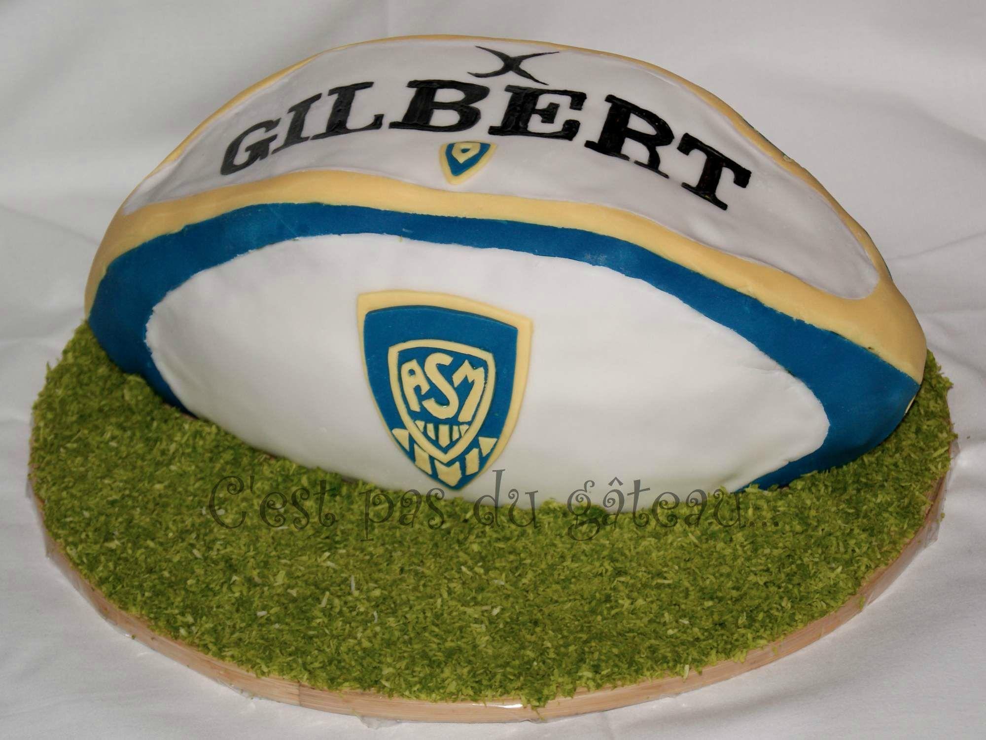 photo g teau ballon de rugby asm miam miam g teau theme pinterest photo gateau rugby et asm. Black Bedroom Furniture Sets. Home Design Ideas