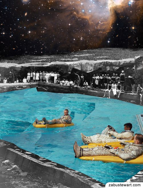 "Zabu Stewart - ""Poolside near the Milky Way"" https://www.facebook.com/pages/Zabu-Stewart/455274201223429"