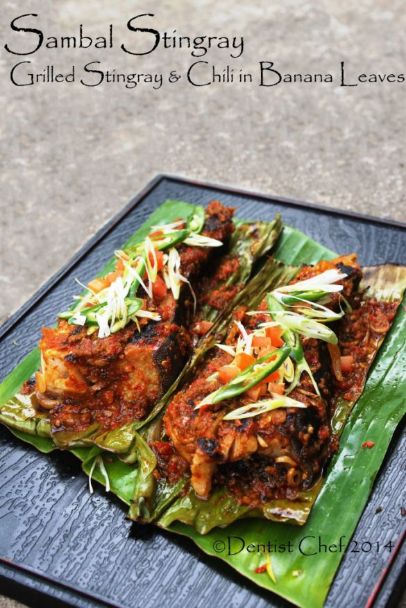 Recipe Sambal Stingray Grilled Stingray Skate With Chili Barbeque Sauce Ikan Pari Bakar Bumbu Sambalpedas Resep Seafood Resep Ikan Makanan Laut