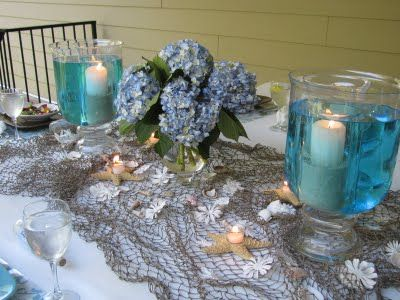 beachthemecenterpieces beach theme can get really overworked so dont worry so much about