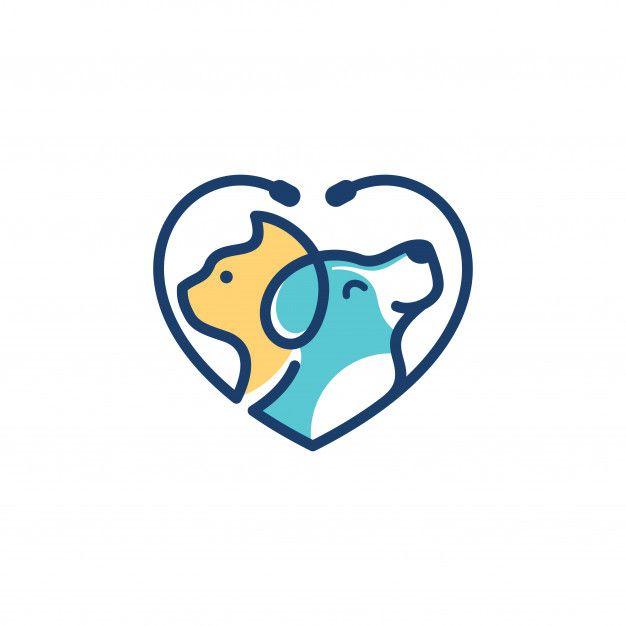 Dog Cat Logo Template Veterinary Cat Logo Animal Logo Dog Logo