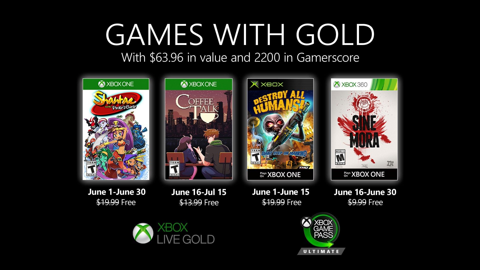 June 2020 S New Golden Game Xbox Wire Xbox One Xbox Xbox Games
