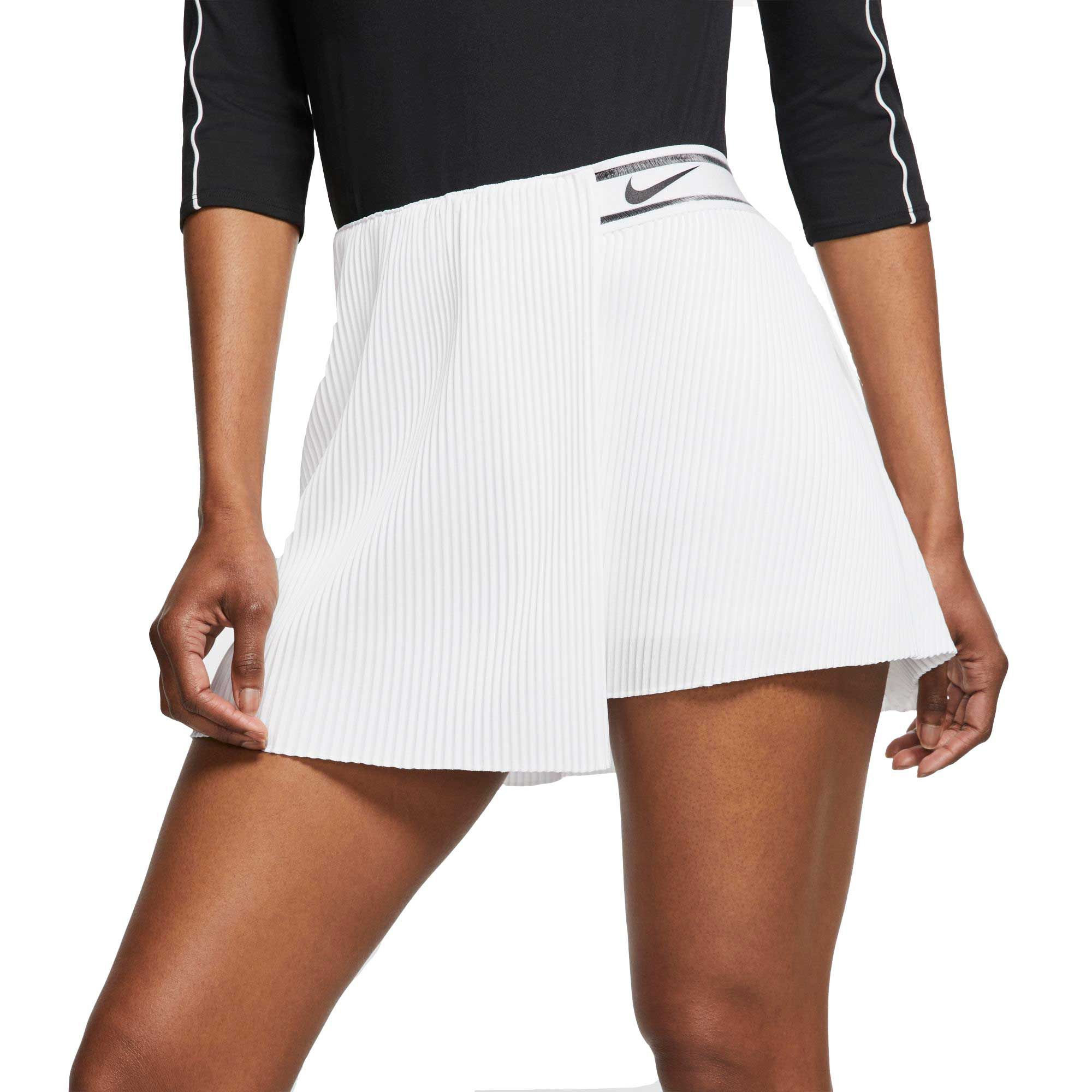 Nike Women S Court Slam Tennis Skirt Size Xl White In 2020 Tennis Outfit Women Womens Tennis Skirts Tennis Clothes