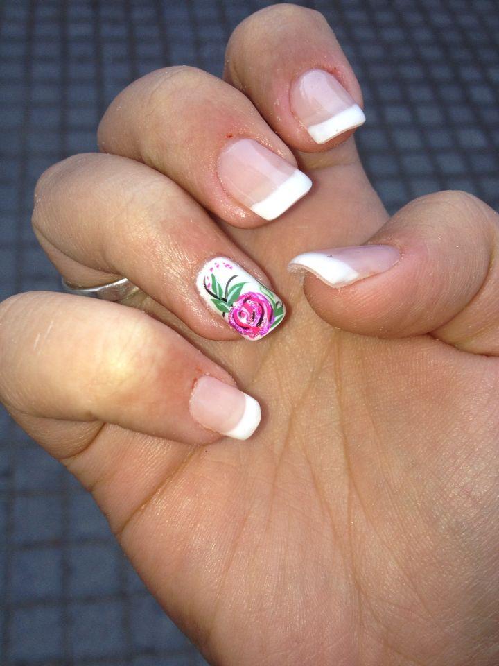 Love 'em..!!!  #french #mani #gel #rose