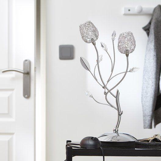 Lampe Adriana Seynave en métal chromé Les rameaux projettent d