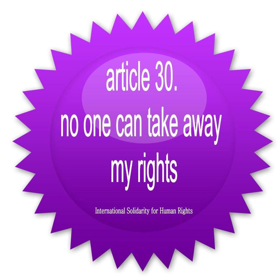 30 No One Can Take Away My Rights Human Rights Human Life
