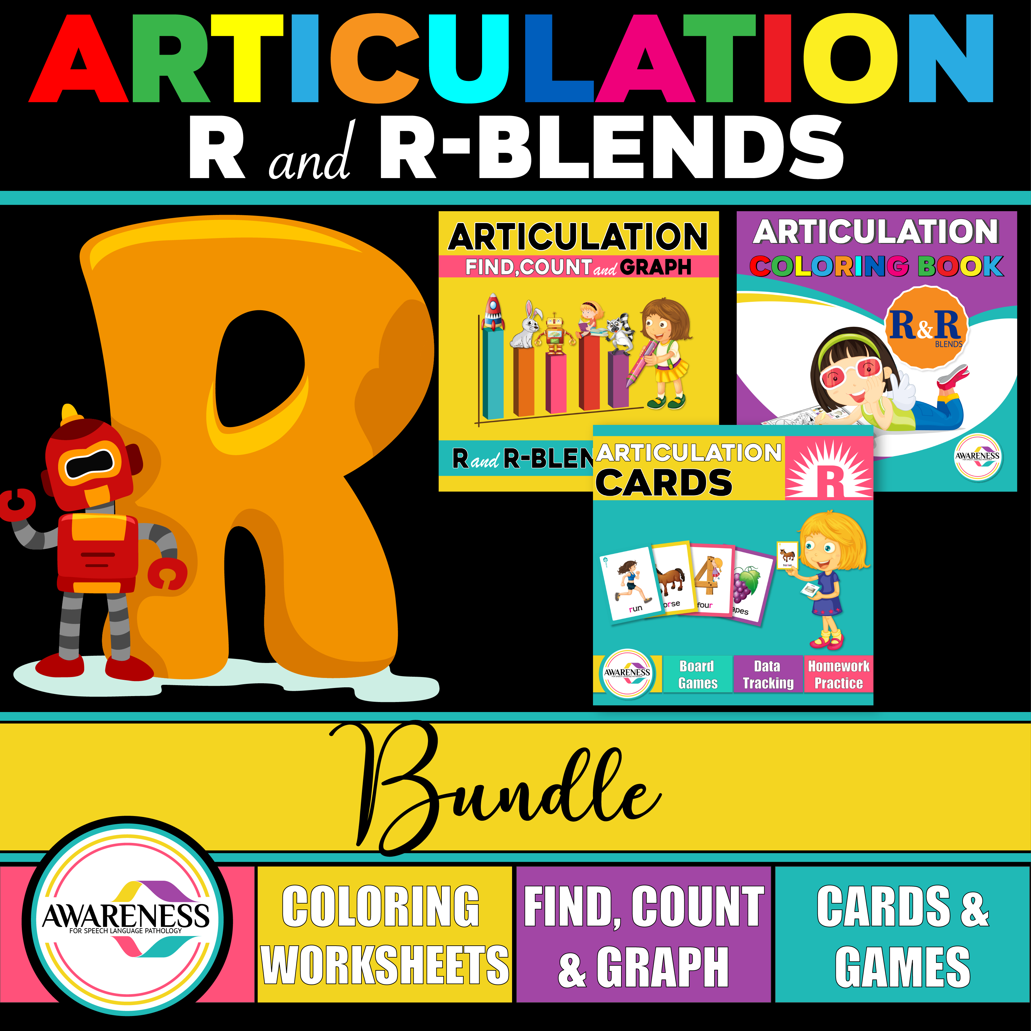 R And R Blends Articulation Pack Activities For Speech