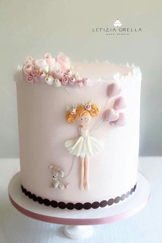 Gorgeous Yet Quite Simple Cake With Images Girl Cakes Girly