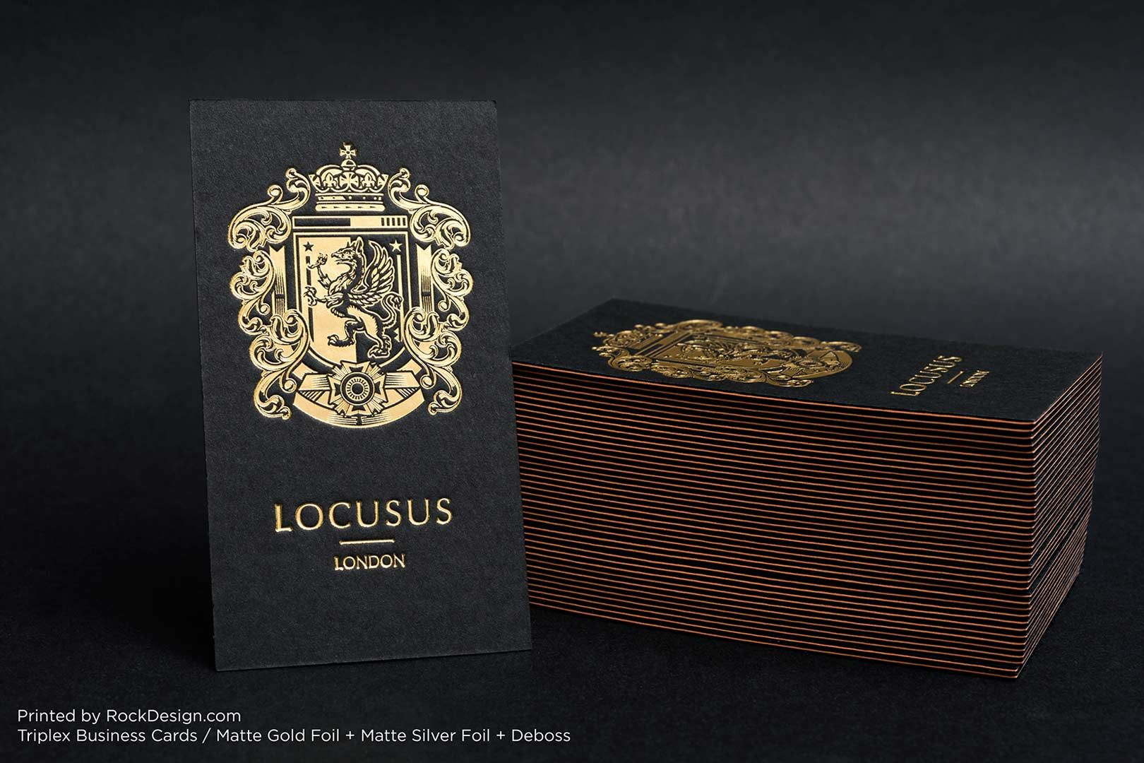 Triplex Business Cards | RockDesign Luxury Business Card Printing ...