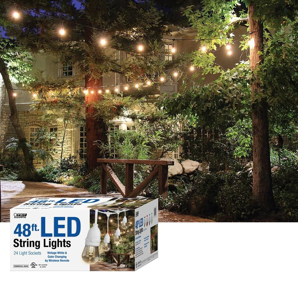 Feit Led String Lights Feit White 48' Color Changing Led String Lights  Products