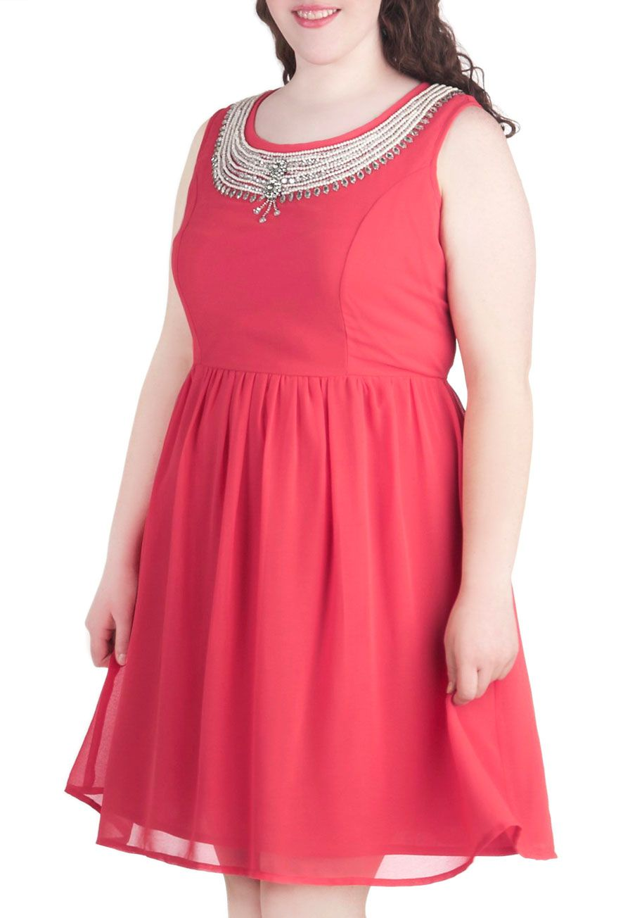 Plus size coral dress for wedding  Chelsea Crew Song and Glance Stacked Heel in Tan  ModCloth Vintage