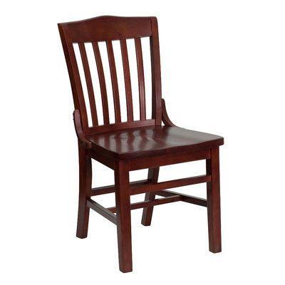 Red Barrel Studio Orlison School House Back Side Chair Quantity Set