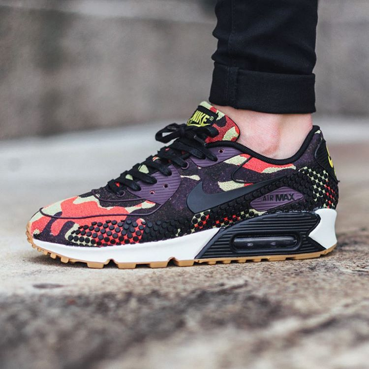 online retailer 3fb94 c1e5a Nike Wmns Air Max 90 Jacquard Premium  Bright Citron Black-Nbl Purple-Bright