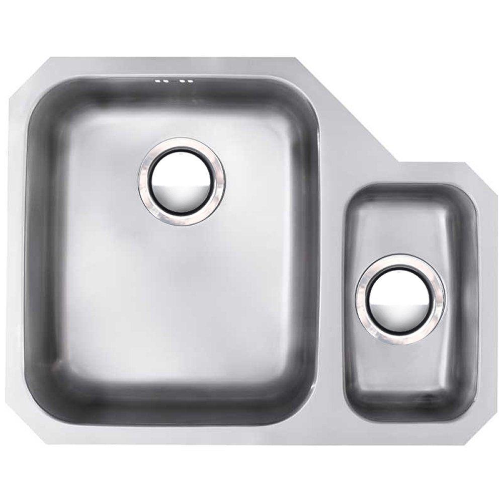 Astracast Edge D1 1.5 Bowl Stainless Steel Undermount Kitchen Sink ...