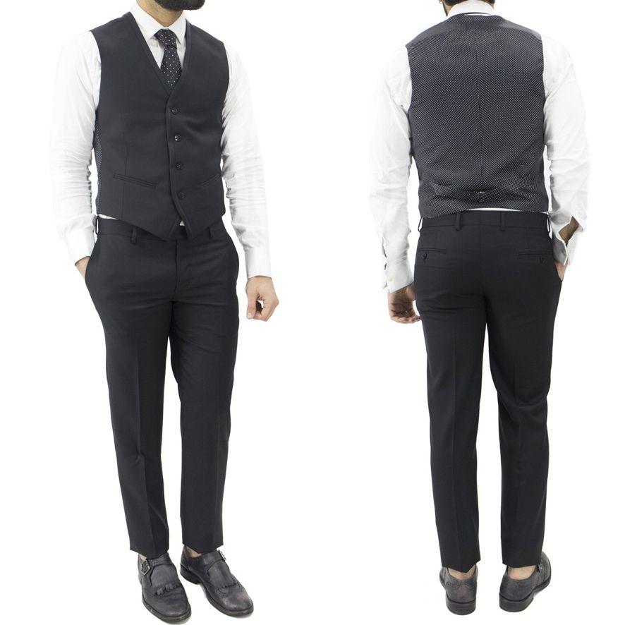 Outfit Uomo Matrimonio Estate : Outfit eleganti uomo abito uomo cerimonia slim fit con gilet