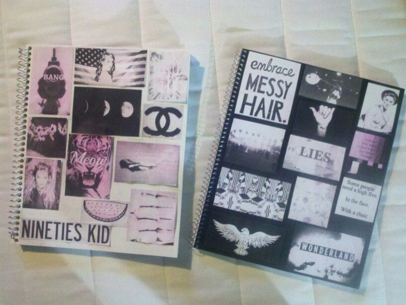 Diy tumblr inspired notebooks like board for Back to school notebook decoration ideas