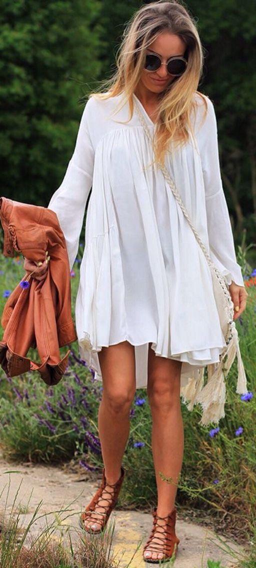 4a3f20e6ad Un bello vestido blanco.