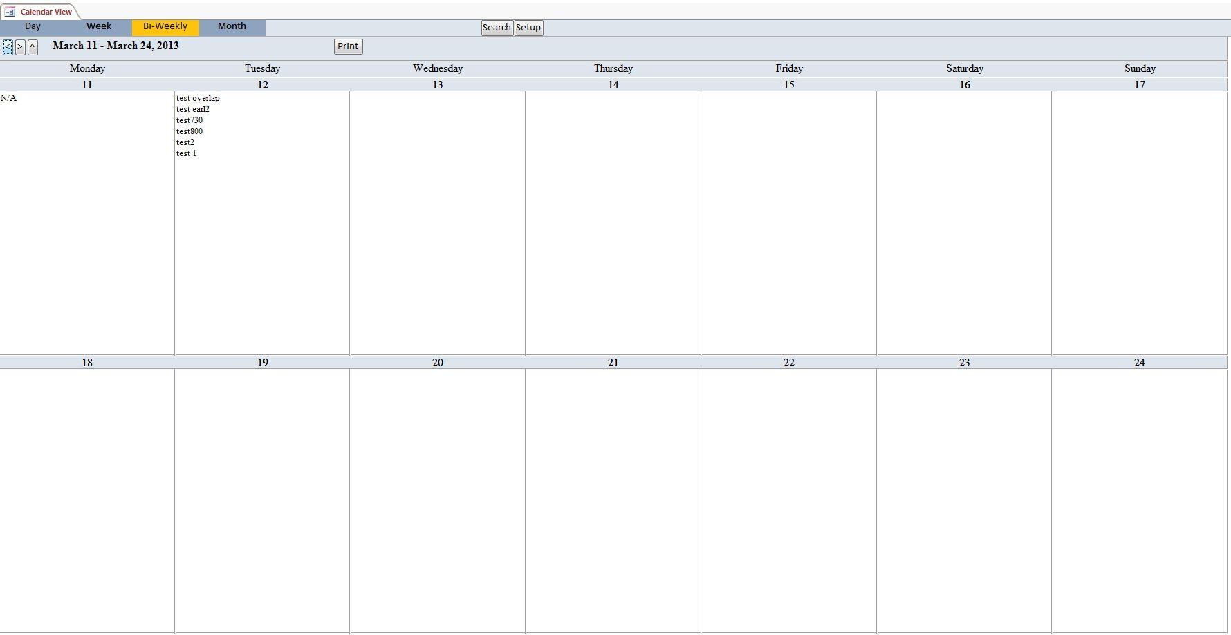 Free printable bi-weekly planner – cute & colorful template.