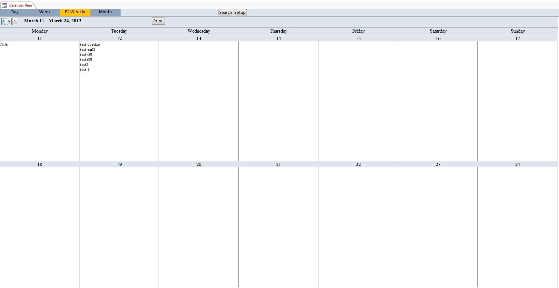 Bi Weekly Calendar Template Calendar Template Schedule Template