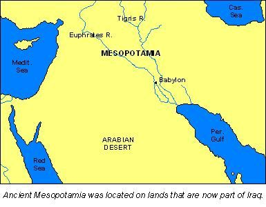 Map of Mesopotamia  Term 2 Social Studies  Ancient Civilizations
