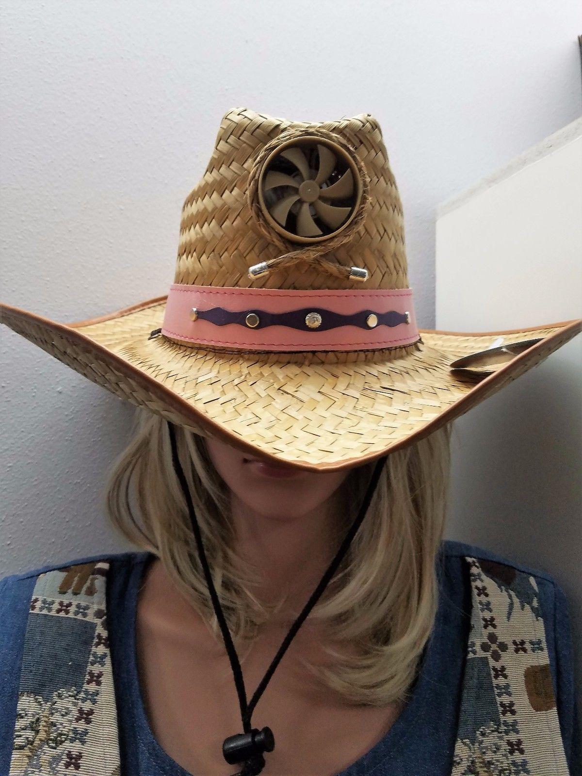 ddb9e2446 Women's Kool Breeze Solar Cowboy Hat, Straw Hat, Solar Cooling Hat ...