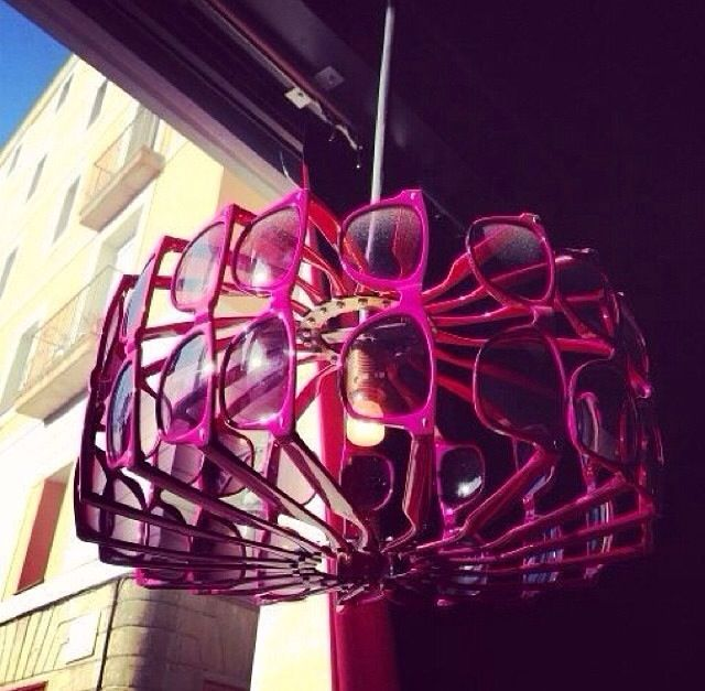 Lamp made out of sunglasses!